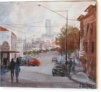 Brisbane Paddington Street Scene Wood Print