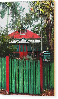 Brisbane Queenslander Wood Print