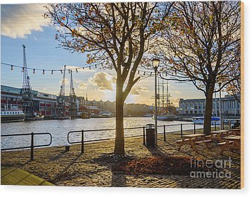 Bristol Harbour Wood Print by Colin Rayner