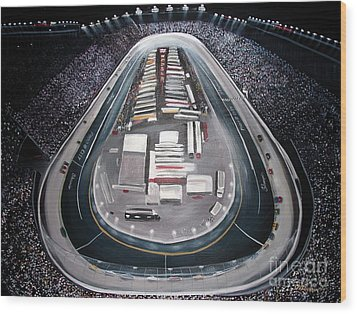 Bristol Motor Speedway Racing The Way It Ought To Be Wood Print by Patricia L Davidson