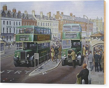Bristols At Weymouth Wood Print by Mike Jeffries