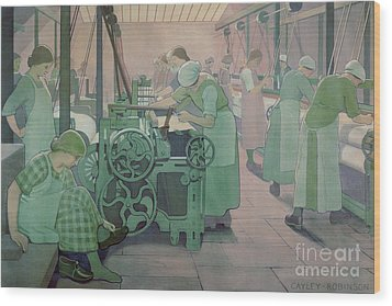British Industries - Cotton Wood Print by Frederick Cayley Robinson