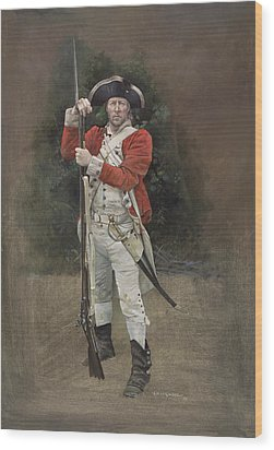 British Infantryman C.1777 Wood Print by Chris Collingwood