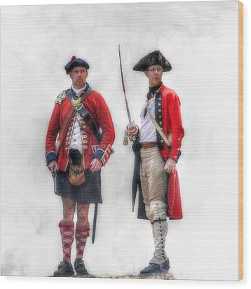 British Officer And Soldier Wood Print by Randy Steele