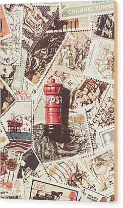 Wood Print featuring the photograph British Post Box by Jorgo Photography - Wall Art Gallery