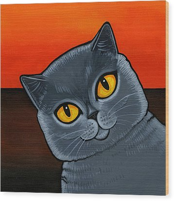British Shorthair Wood Print
