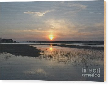 Wood Print featuring the photograph Broad Creek Sunset by Carol  Bradley