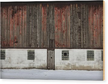 Wood Print featuring the photograph Broad Side Of A Barn by Julie Hamilton