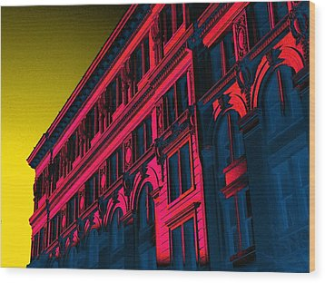 Broadway 118 In Fuschia Wood Print by Edgar Farrera