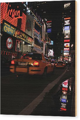Broadway Lights Wood Print by Karol Livote