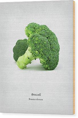 Broccoli Wood Print by Mark Rogan