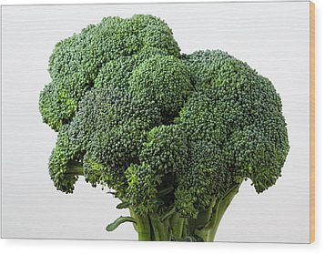 Broccoli Wood Print by Robert Ullmann