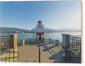 Brockton Point Lighthouse At Stanley Park Wood Print by David Gn