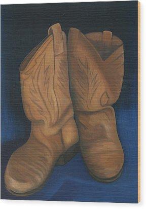 Broke In Wood Print by Stephen Degan