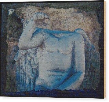 Broken Angel  Mono Lake Wood Print by Ann Tracy