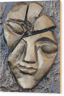 Broken Face Wood Print by Rajesh Chopra