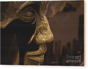 Broken Face Wood Print