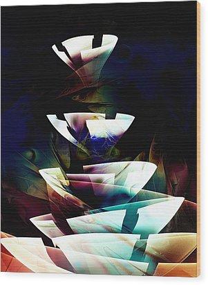 Wood Print featuring the digital art Broken Glass by Anastasiya Malakhova
