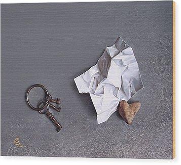 Broken Promise - 2 Wood Print by Elena Kolotusha