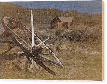 Wood Print featuring the photograph Broken Spokes by Lana Trussell