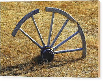 Wood Print featuring the photograph Broken Spokes by Lynn Bawden