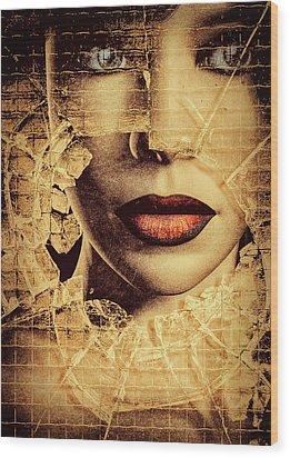 Broken Window Wood Print by Bob Orsillo