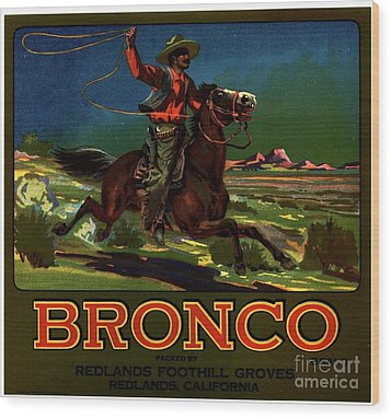 Bronco Redlands California Wood Print by Peter Gumaer Ogden