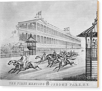 Bronx: Horse Race, 1866 Wood Print by Granger