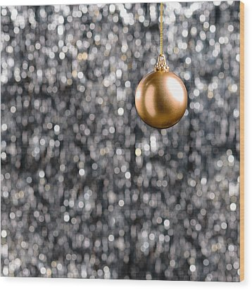 Wood Print featuring the photograph Bronze Christmas  by Ulrich Schade