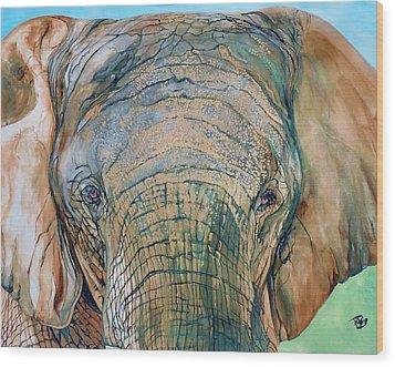 Bronze Elephant Wood Print