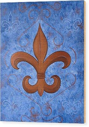 Bronze Fleur De Lis Wood Print
