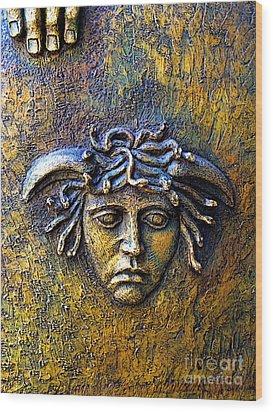 Bronze Medusa Wood Print by Mexicolors Art Photography