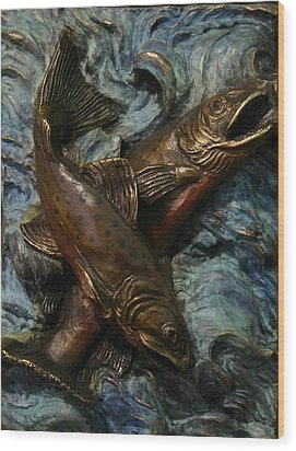 Brook Trout Wood Print by Dawn Senior-Trask