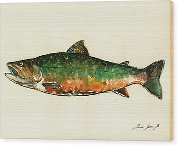 Brook Trout Wood Print by Juan  Bosco