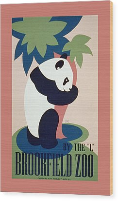 Brookfield Zoo Panda Wood Print by Unknown