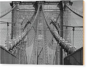 Wood Print featuring the photograph Brooklyn Bridge by Emmanuel Panagiotakis