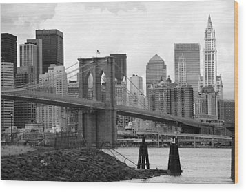 Brooklyn Bridge I Wood Print by Chuck Kuhn