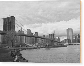 Brooklyn Bridge II Wood Print by Chuck Kuhn