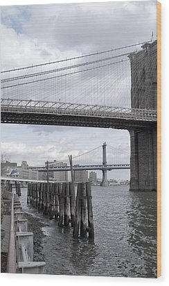 Brooklyn Bridge II Wood Print