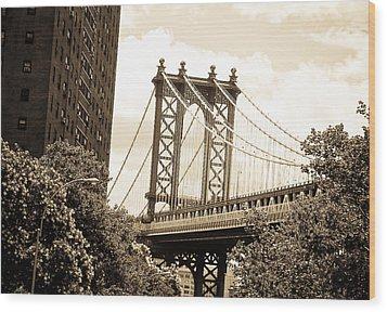 Brooklyn Bridge New York Wood Print
