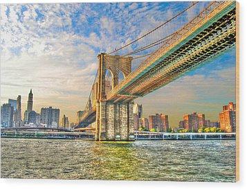 Brooklyn Bridge Wood Print by Randy Aveille