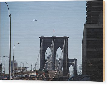 Brooklyn Bridge Wood Print by Rob Hans