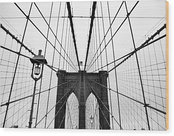 Brooklyn Bridge Wood Print by Thank you for choosing my work.