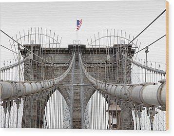 Brooklyn Bridge Top Wood Print