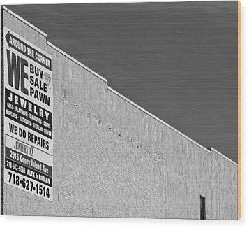 Brooklyn Pawnshop Sign Wood Print by Robert Ullmann