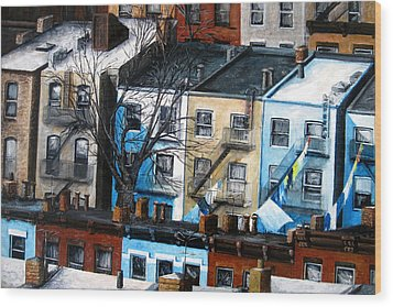 Brooklyn Rooftops Wood Print