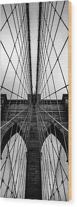 Brooklyn's Web Wood Print by Az Jackson