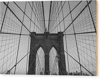 Brooklyn's Web Wood Print by Joshua Francia
