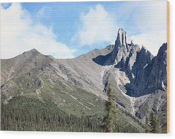 Wood Print featuring the photograph Brooks Mountains by Adam Owen