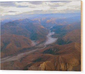 Wood Print featuring the photograph Brooks Range At 4000 Feet by Adam Owen